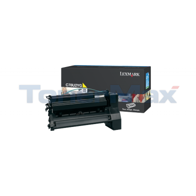 LEXMARK C782 XL PRINT CART YELLOW 16.5K
